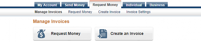 "Paypal offers 2 invoicing services: ""Request Money"" and ""Create an Invoice"""
